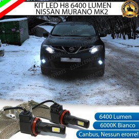 KitFull LED H8 6400 LUMEN FendinebbiaNISSANMURANO II