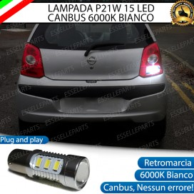 Luce Retromarcia 15 LED Nissan Pixo CON LENTE FRONTALE