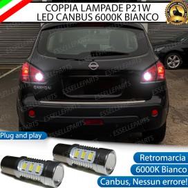 Luci Retromarcia 15 LED Nissan Qashqai I CON LENTE FRONTALE