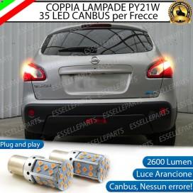 Coppia Frecce Posteriori PY21W 35 LED Canbus Nissan Qashqai I RESTYLING