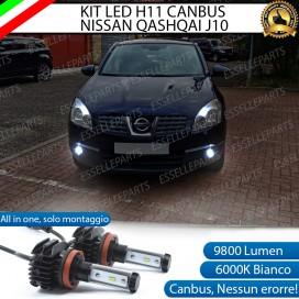 KitFull LEDFendinebbia H11 9800 LUMEN perNISSANQASHQAI J10