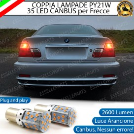 Coppia Frecce Posteriori PY21W 35 LED Canbus BMW SERIE 3 E46