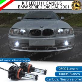 Kit Full LED H11 Fendinebbia 9800 LUMEN BMW SERIE 3 E46 DOPO IL 2001