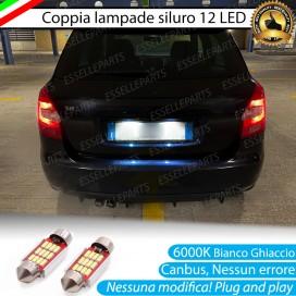 Luci Targa 12 LED Canbus 6000K per Skoda Fabia 2