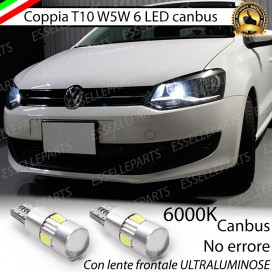 Luci posizione 6 LED Canbus 400 Lumen VW POLO 6R 6C