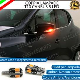 Coppia Lampade T10 W5W 8 LED per Frecce Laterali Renault Clio 4