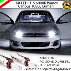 Kit LuciDiurne/Abbaglianti H15 10800 LUMENVWGOLF VI