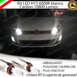 Kit LuciDiurne/Abbaglianti H15 10800 LUMENVWGOLF VII