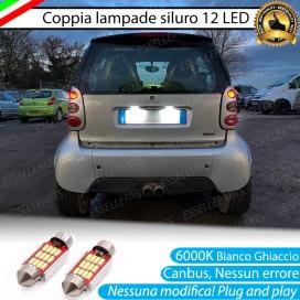 Luci Targa 12 LED Canbus 6000K per Smart Fortwo