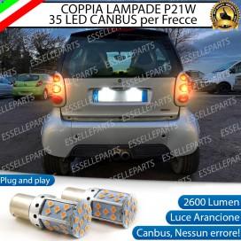 Coppia Frecce Posteriori P21W 35 LED Canbus Smart Fortwo