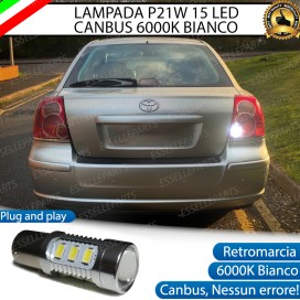Luce Retromarcia 15 LED Toyota Avensis (MK2) CON LENTE FRONTALE