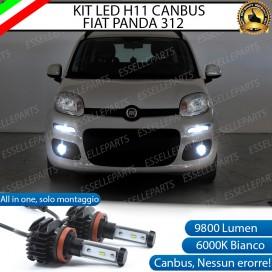 KitFull LEDFendinebbia H11 9800 LUMEN perFIATPANDA III