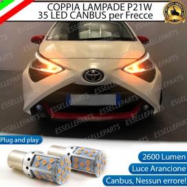 Coppia Frecce Anteriori P21W 35 LED Canbus Toyota Aygo II