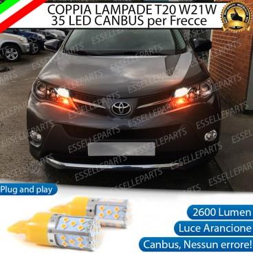 Coppia Frecce Anteriori T20 WY21W 35 LED Canbus Toyota Rav4 (MK4)