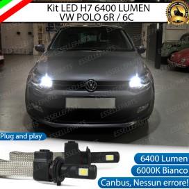 KitFull LED H7 6400 LUMEN AbbagliantiVWPOLO 6R/6C