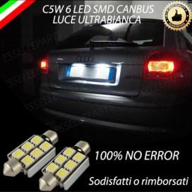 LUCI TARGA 6 LED CANBUS 6000K PER AUDI A3 8P 8PA fino al 2009