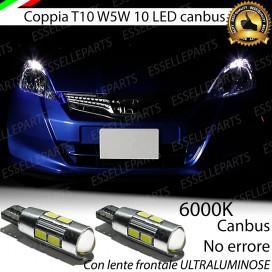 Luci posizione T10 W5W 10 LED Canbus Honda Jazz II