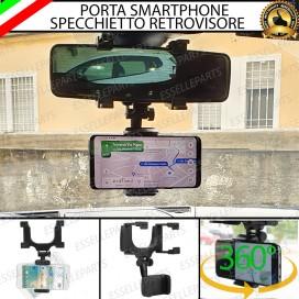 Supporto Porta Cellulare Smartphone per Specchietto Retrovisore Universale
