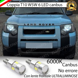 Luci posizione T10 W5W 6 LED Canbus LAND ROVER FREELANDER I RESTYLING
