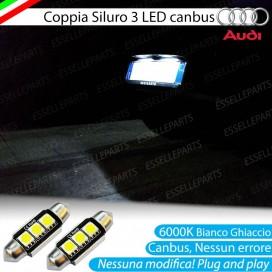 LUCI TARGA 3 LED CANBUS 6000K PER AUDI A3 8P 8PA FINO AL 2009