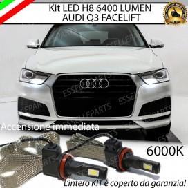 KitFull LED H8 6400 LUMEN FendinebbiaAUDIQ3 RESTYLING