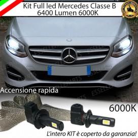 KitFull LED H7 6400 LUMEN AnabbagliantiMERCEDESCLASSE B W246RESTYLING
