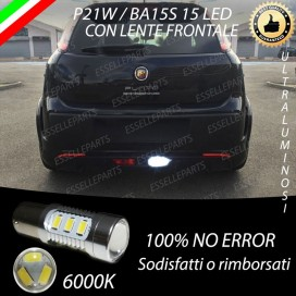 Luce Retromarcia 15 LED Fiat PUNTO EVO ABARTH CON LENTE FRONTALE