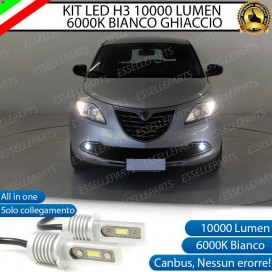 Kit Full LED H3 10000 Lumen Fendinebbia lancia ypsilon ii
