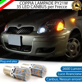 Coppia Frecce Anteriori PY21W 35 LED Canbus Toyota Yaris 1