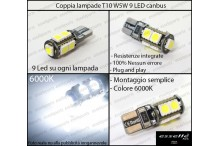 Luci targa 9 LED Canbus MERCEDES CLASSE E W212
