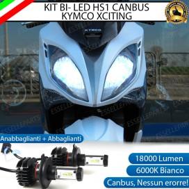 Kit Full LED Coppia HS1 18000 Lumen Anabbaglianti Abbaglianti per KYMCO Xciting 400i (2012-2017) ABS