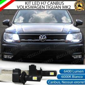 Kit Full LED H7 6400 LUMEN Abbaglianti VW TIGUAN II