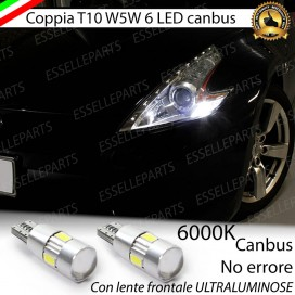 Luci posizione T10 W5W 6 LED Canbus Nissan 370Z