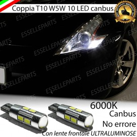 Luci posizione T10 W5W 10 LED Canbus Nissan 370Z