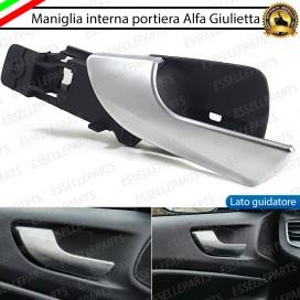 Maniglia Interna - LATO GUIDATORE ANTERIORE - Cromata Satinata per Alfa Romeo Giulietta