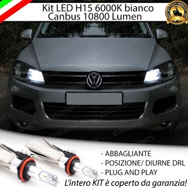 Kit LuciDiurne/Abbaglianti H15 10800 LUMENVWTOUAREG 7P PRIMA DEL 2014