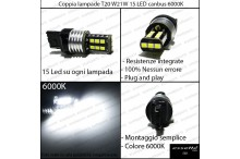 Luci posizione/diurne 15 LED Vw touran