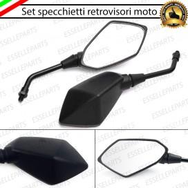 Coppia Specchietti Retrovisori Neri Universali per moto,motorini,scooter