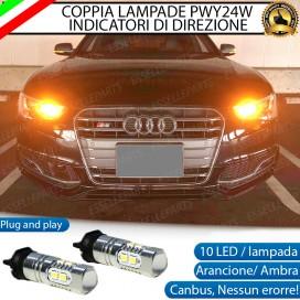 Coppia Frecce Anteriori PWY24W 10 LED Canbus AUDI A5 RESTYLING DAL 2012 IN POI