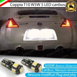 Luci Targa 5 LED Canbus 6000K per Nissan 370Z