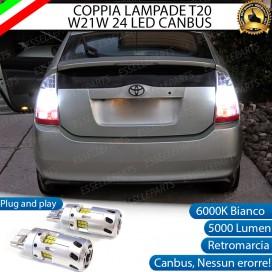 Luci Retromarcia a LED CANBUS 3.0 T20 W21W per TOYOTA PRIUS