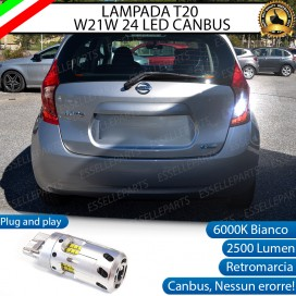 Luce Retromarcia a LED CANBUS 3.0 T20 W21W per NISSAN NOTE II
