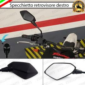 Specchietto Retrovisore - DESTRO - Nero Universale per moto,motorini,scooter