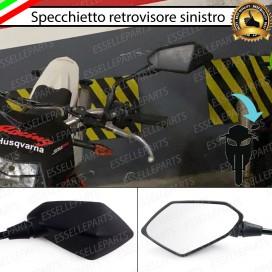 Specchietto Retrovisore - SINISTRO - Nero Universale per moto,motorini,scooter