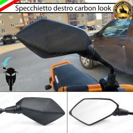 Specchietto Retrovisore - DESTRO - Carbon look Universale per moto,motorini,scooter