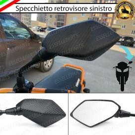 Specchietto Retrovisore - SINISTRO - Carbon look Universale per moto,motorini,scooter