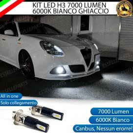 Kit Full LED H3 7000 Lumen Fendinebbia ALFA ROMEO GIULIETTA