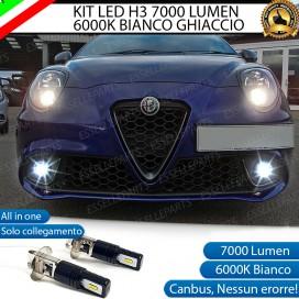 Kit Full LED H3 7000 Lumen Fendinebbia ALFA ROMEO MITO RESTYLING
