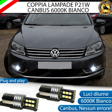 Luci Posizione DIURNE 15 LED BA15S P21W VW PASSAT B7