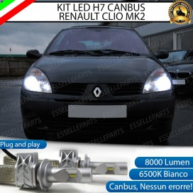 KitFull LED H7 8000 LUMEN AnabbagliantiRENAULT CLIO II